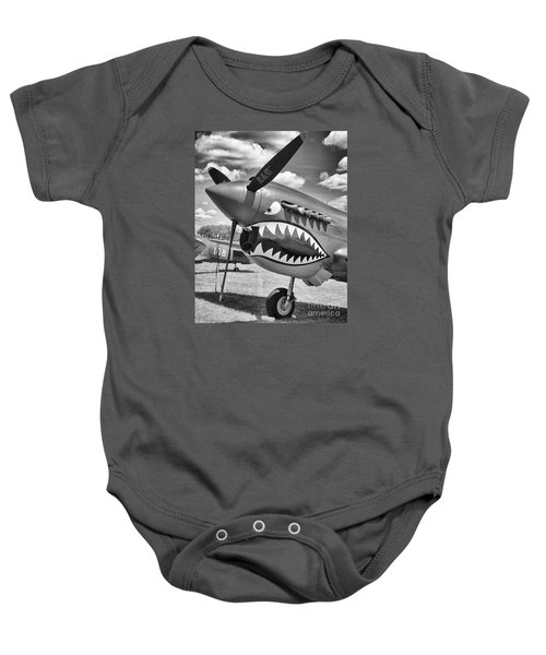 Baby Onesie featuring the photograph Fighting Tiger by Ricky L Jones