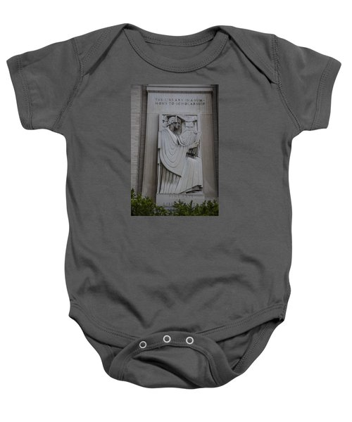 Fine Art Library Penn State  Baby Onesie by John McGraw