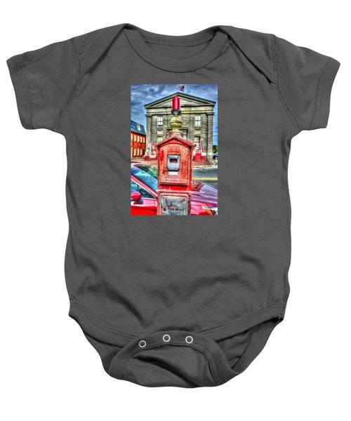 Fire Alarm Box 375 In Painterly Baby Onesie