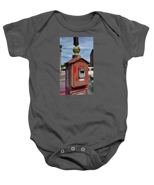 Fire Alarm Box 375 Baby Onesie