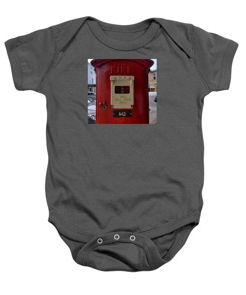 Fire Box 342 Baby Onesie