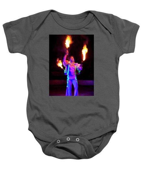 Fire Juggler Baby Onesie