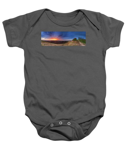 Fire On The West Side Baby Onesie