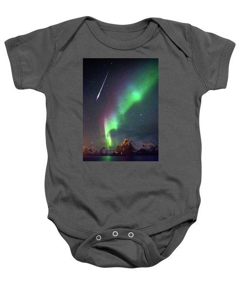 Fireball In The Aurora Baby Onesie