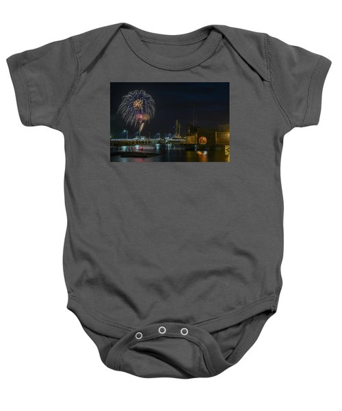 Fireworks And 17th Street Docks Baby Onesie