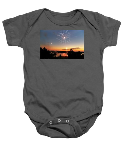 Fireworks And Sunset Baby Onesie