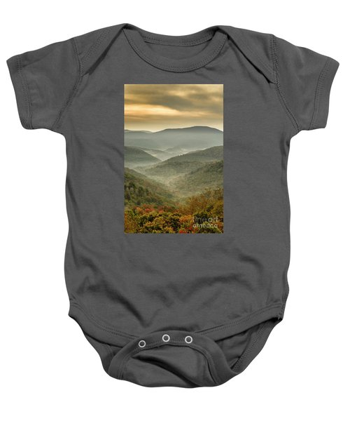 First Day Of Fall Highlands Baby Onesie