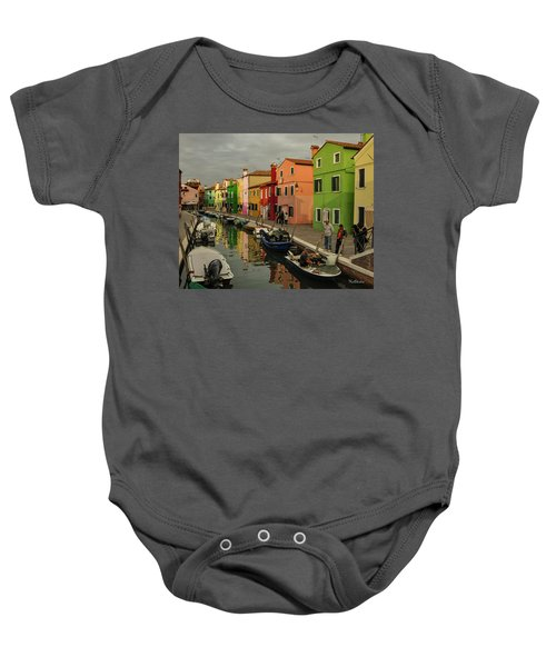 Fisherman At Work In Colorful Burano Baby Onesie