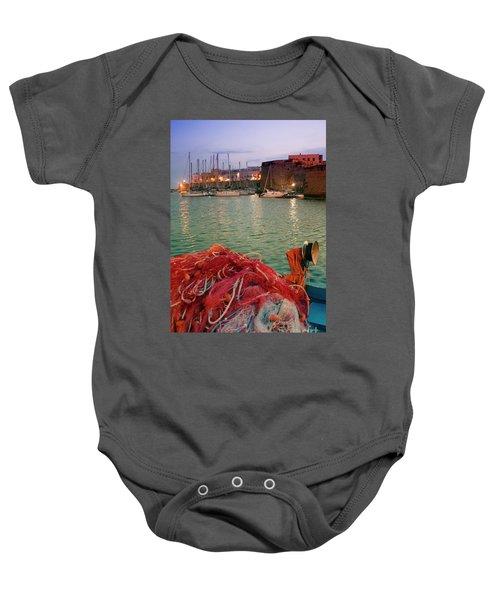 Fisherman's Net Baby Onesie
