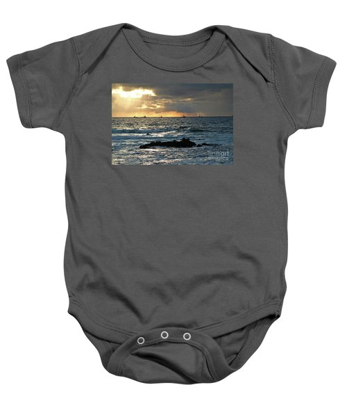 Fishing Boats Off Point Lobos Baby Onesie