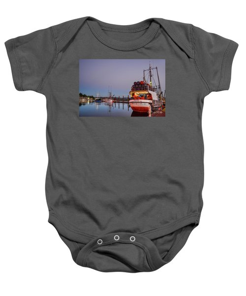 Fishing Boats Waking Up For The Day Baby Onesie