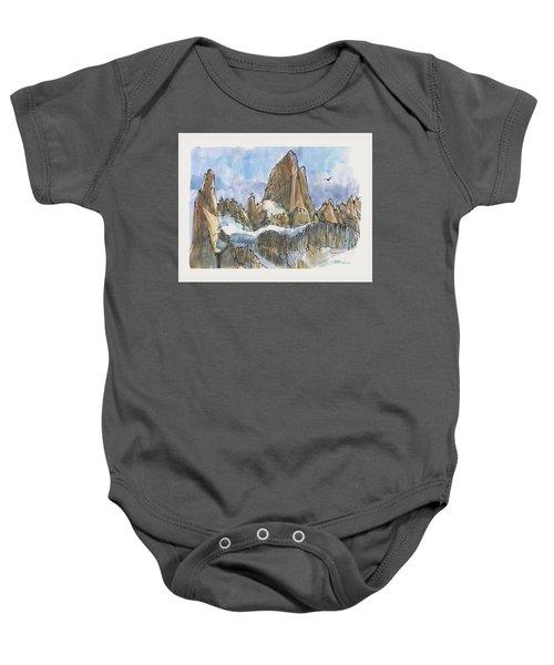 Fitz Roy, Patagonia Baby Onesie