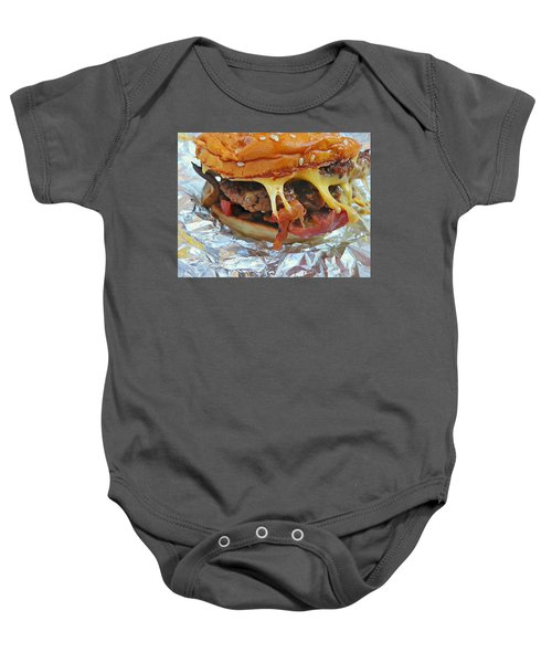 Five Guys Cheeseburger Baby Onesie