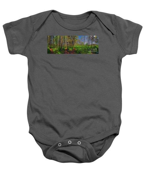 Paths, Pines 360 Baby Onesie