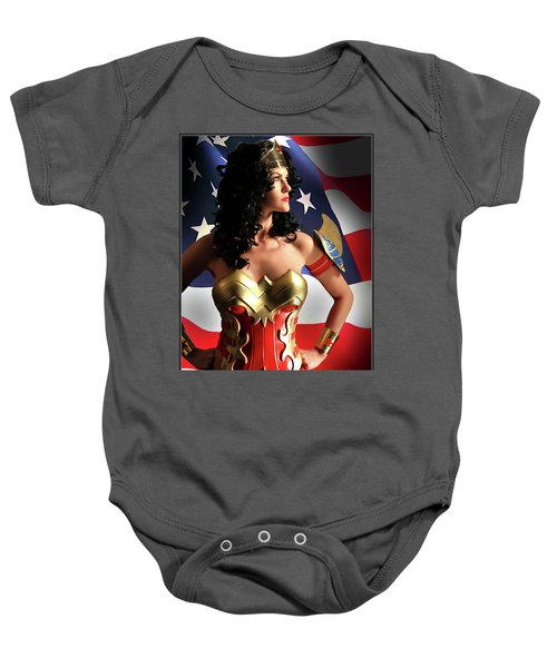 Flag And Fury Baby Onesie