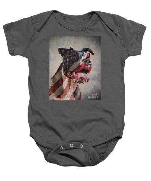 Flag Dog Baby Onesie