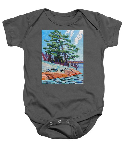 Flags And Contrails Baby Onesie