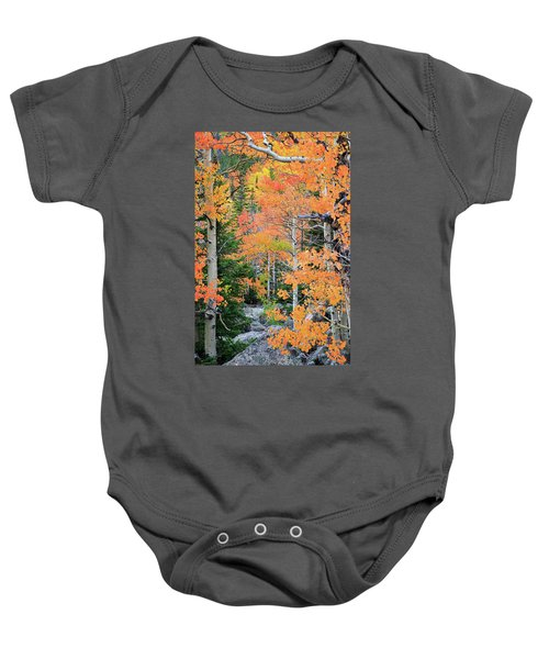 Flaming Forest Baby Onesie