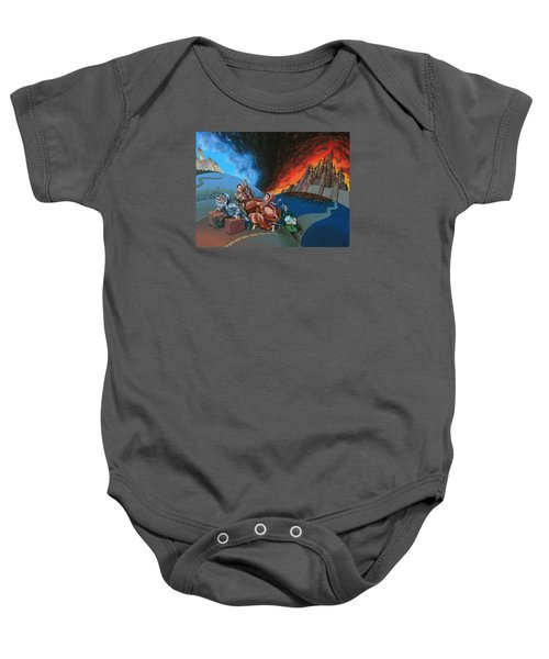 Flight Of Lot Out From Sodom Baby Onesie