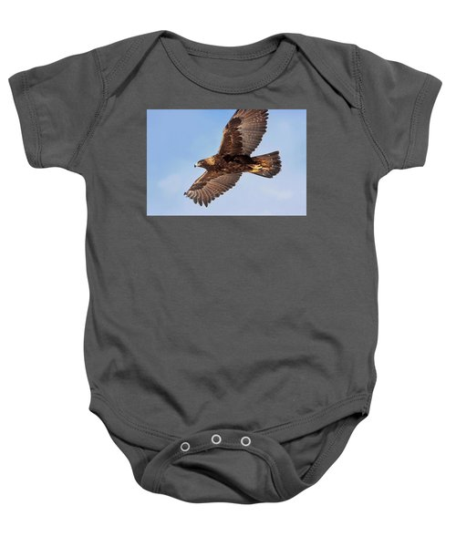 Flight Of The Golden Eagle Baby Onesie
