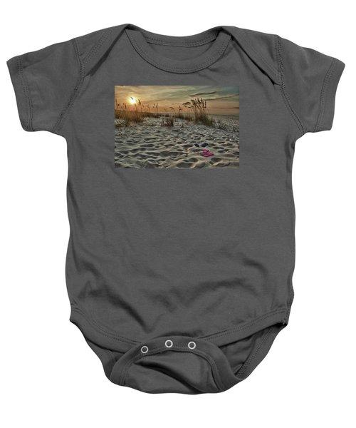 Flipflops On The Beach Baby Onesie