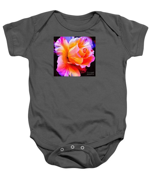 Floral Interior Design Thick Paint Baby Onesie