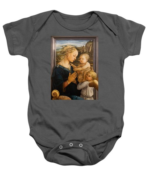 Florence - Madonna And Child With Angels- Filippo Lippi Baby Onesie