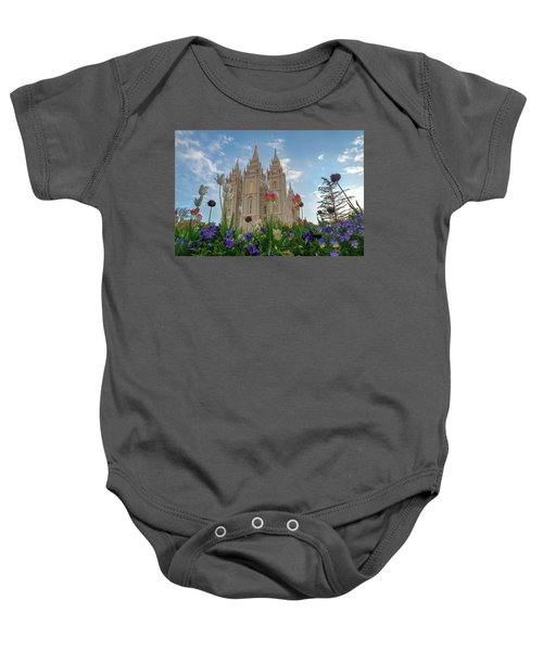 Flowers At Temple Square Baby Onesie