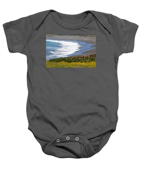Flowers By The Sea Baby Onesie