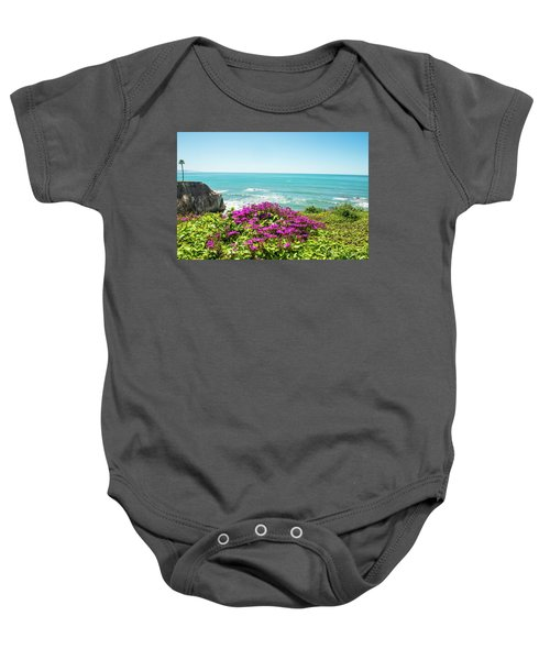 Flowers On The Cliff Baby Onesie