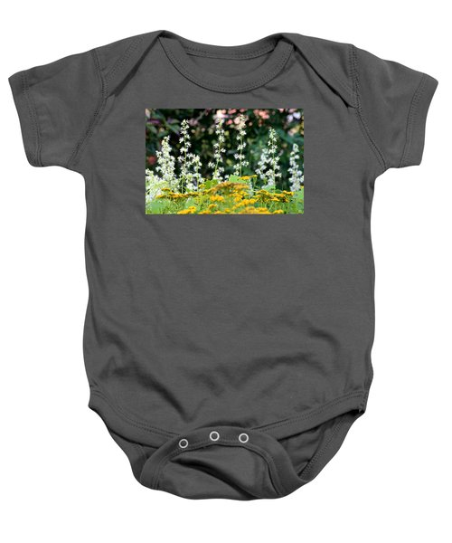 Flowers Sparkling Above The Tansies Baby Onesie