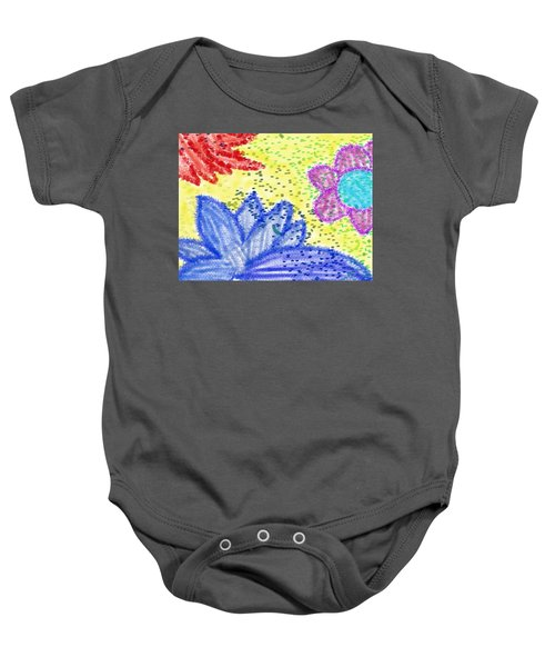 Flowery Lotus Baby Onesie