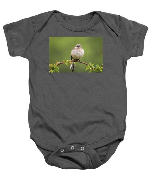 Fluffy Mockingbird Baby Onesie