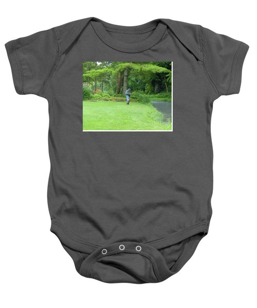 Fly Fishing On Trout Run Creek Baby Onesie
