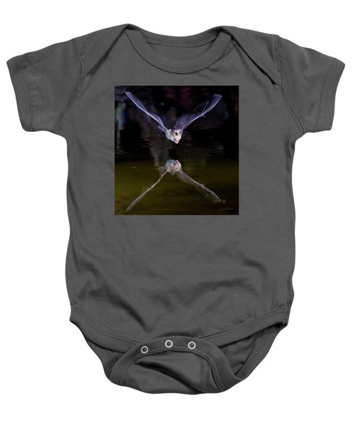 Flying Bat With Reflection Baby Onesie