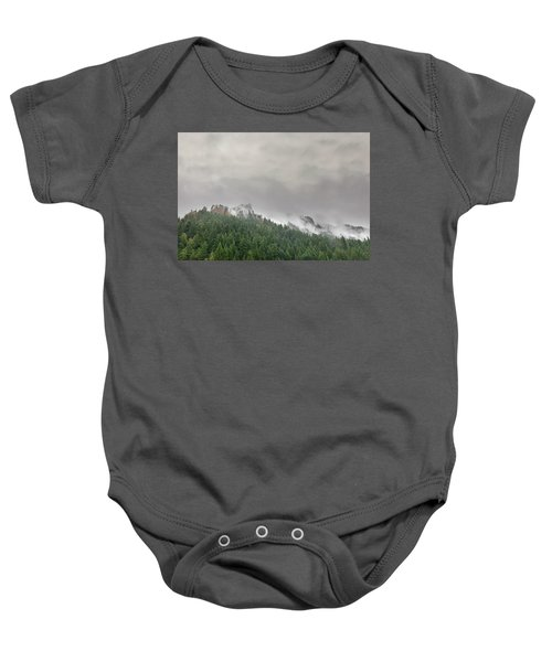 Fog Rolling Over Columbia River Gorge Baby Onesie