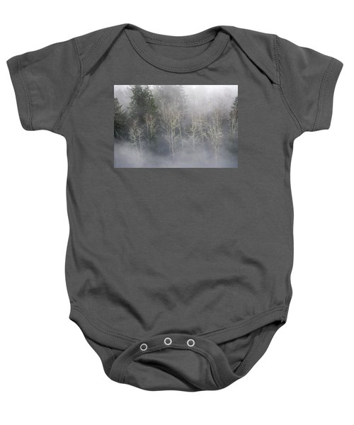 Foggy Alders In The Forest Baby Onesie