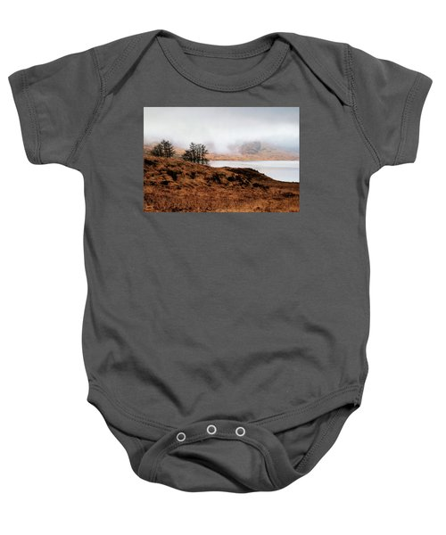 Foggy Day At Loch Arklet Baby Onesie by Jeremy Lavender Photography