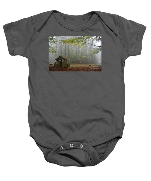 Foggy Morning At Droop Mountain Baby Onesie