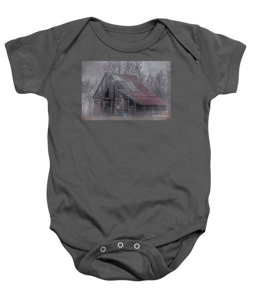 Foggy Morning Backroads Baby Onesie