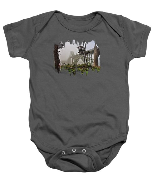 A Foggy Morning On Yaquina Bay Baby Onesie
