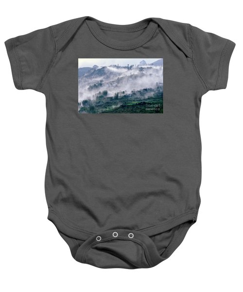 Foggy Mountain Of Sa Pa In Vietnam Baby Onesie