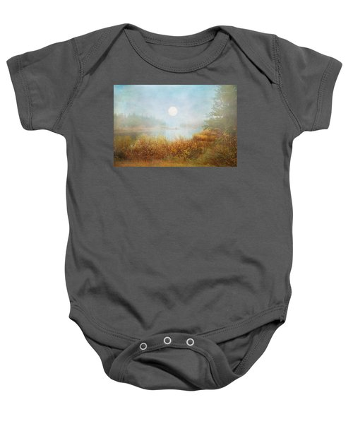 Foggy Sunrise  Baby Onesie