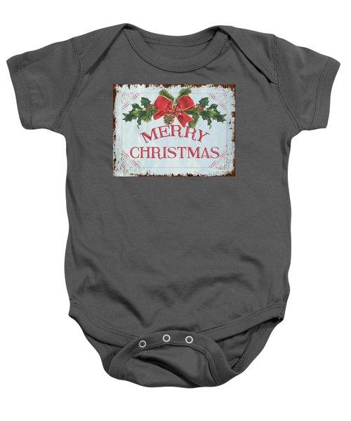 Folk Merry Christmas Baby Onesie