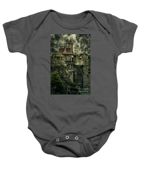Fonthill With Storm Clouds Baby Onesie