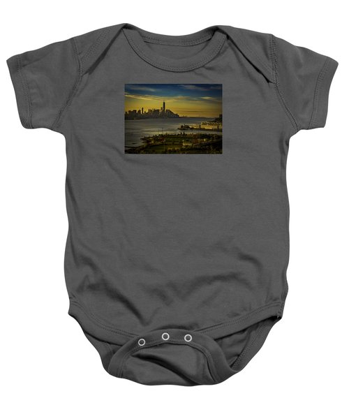 Football Field With A View Baby Onesie