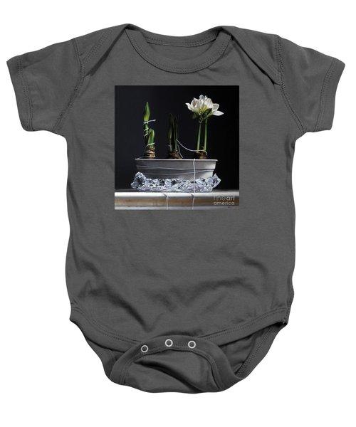 Forcing Amaryllis Baby Onesie