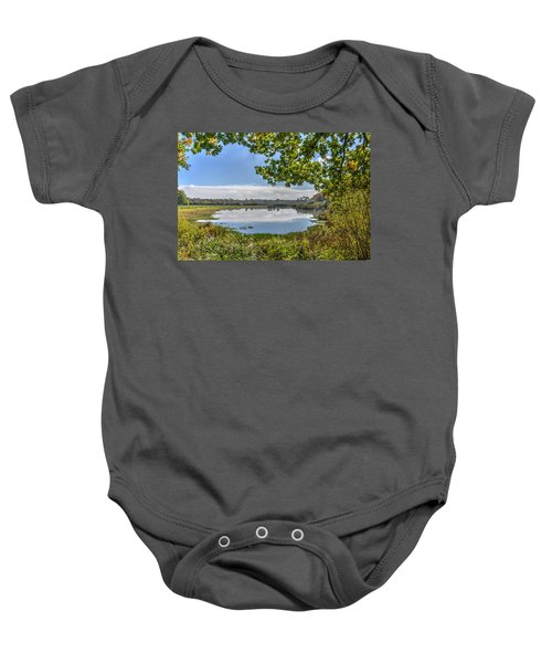 Forest Lake Through The Trees Baby Onesie