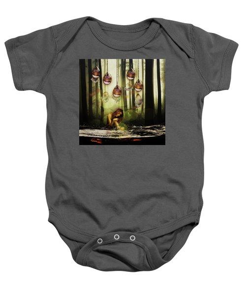 Forest Rain Fantasy Baby Onesie