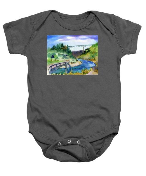 Foresthill Bridge #2 Baby Onesie
